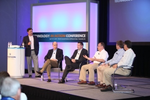 Pictured (left to right): Mark Dunson, Emerson Climate Technologies Retail Solutions; Jack Uldrich, The School of Unlearning; Ben Francis, Dollar General; Wayne Rosa, Delhaize America Shared Services; Terry David, QuikTrip; and Steve Geffin, Emerson Network Power.